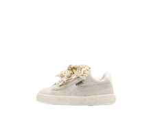 Puma Suede Heart Ath Lux Infant Whisper White/Puma Team Gold