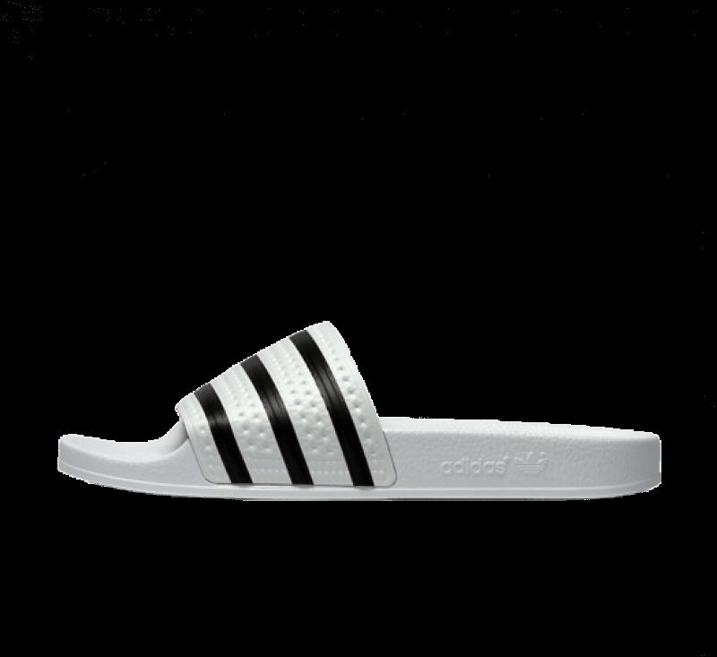 Adidas Adilette White/Core Black