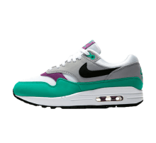 Nike Women's Air Max 1 White/Black-Wolf Grey-Clear Emerald