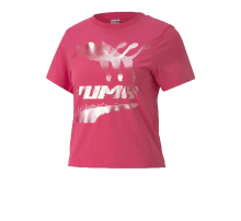Puma Women's Evide Graphic Tee Glowing Pink