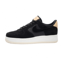 Nike Women's Air Force 1 '07 Premium Black/Summit White-Light Cream