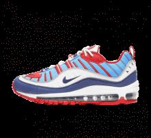 Nike Women's Air Max 98 Summit/White/Blue Void-University Red