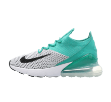 Nike Women's Air Max 270 Flyknit Clear Emerald/Black-White
