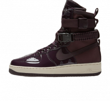 Nike Women's SF Air Force 1 SE Premium Port Wine/Space Blue