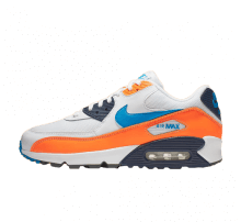 info for 25120 f839d Nike Air Max 90 Essential White Photo Blue-Total Orange