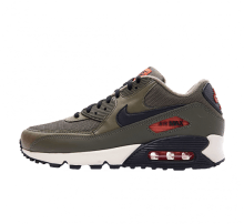 Nike Air Max 90 Essential Medium Olive/Black-Team Orange