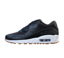 Nike WMNS Air Max 90 PRM LEA Black/Black-Dark Grey-Ivory