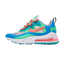 Nike Women's Air Max 270 React Electro Green/Flash Crimson-Blue Lagoon
