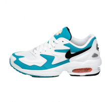 Nike Air Max2 Light White/Black/Blue Lagoon/Laser Orange