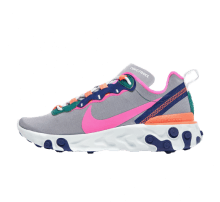Nike Women's React Element 55 Wolf Grey/Laser Fuchsia