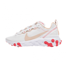 Nike Women's React Element 55 White/Desert Ore-Amber Glow