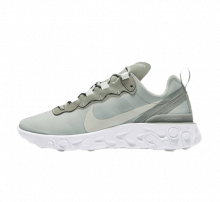 sneakers for cheap a9bc4 ef7a3 Nike Women s React Element 55 Mica Green Light Silver-White