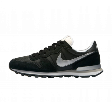 Nike Internationalist Black/Metallic Silver-White-Flt silver