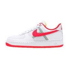 Nike Air Force 1 '07 LV8 1 White/Bright Crimson-Barely Volt