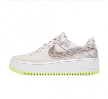 Nike Women's Air Force 1 Sage Lo Premium LT Orewood Brown/Moon Particle-White