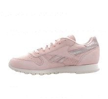 Reebok Women's Classic Leather Shimmer Pale Pink/Matte Silver