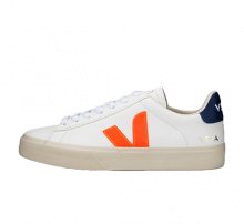 Veja Women's Campo Chromefree Extra White/Orange Fluo-Cobalt