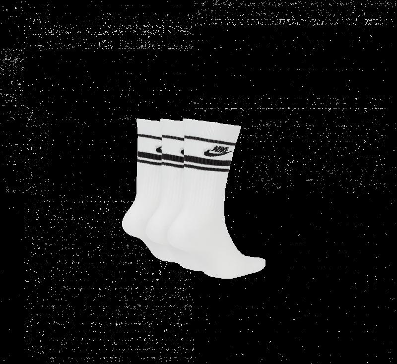 Nike NSW Crew Essential Stripe Socks White/Black