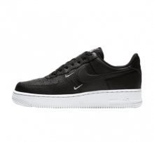 Nike nike air force 1 flyknit low on feet and toes foot Essential Black/White