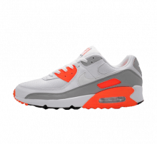 Nike Air Max 90 White/Hyper Orange-It Smoke Grey