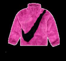 Nike NSW Faux Fur Jacket Cactus Flower/Black
