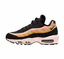 Nike Women's Air Max 95 Premium Black/Atomic Flare-Solar Flare