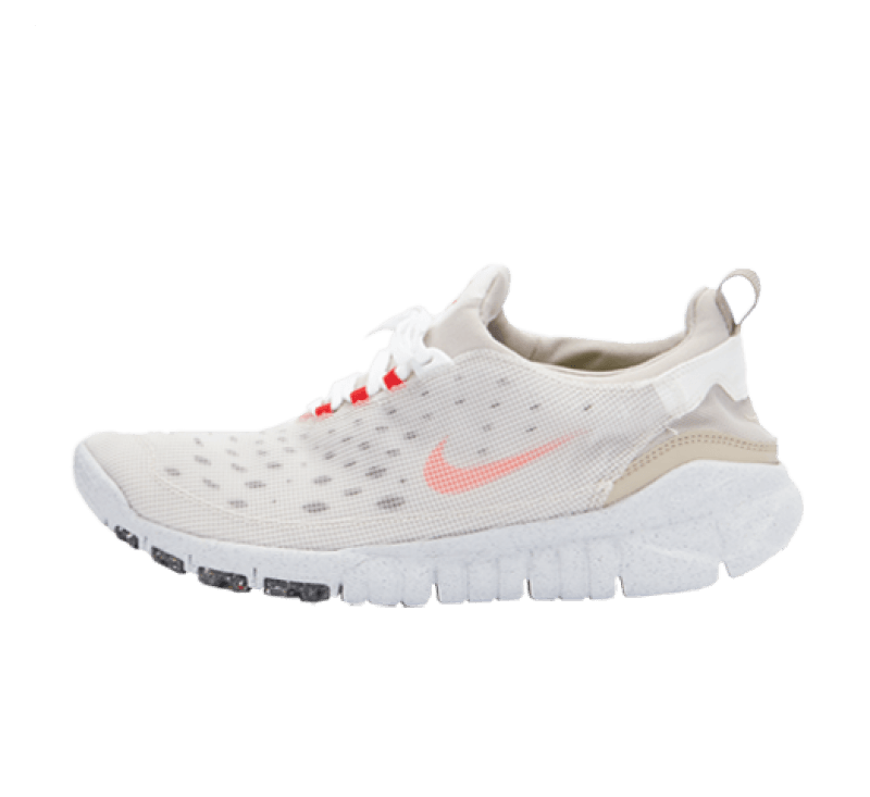 Nike Free Run Trail Crater White/Orange-Cream II-Cave Stone