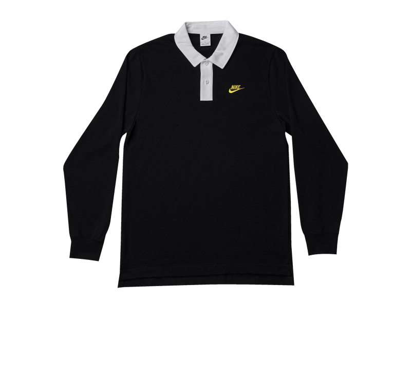 Nike Trend Rugby Top Black/White-University Gold