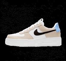 Nike Women's Air Force 1 Pixel Desert Sand/Dark Cinder-White
