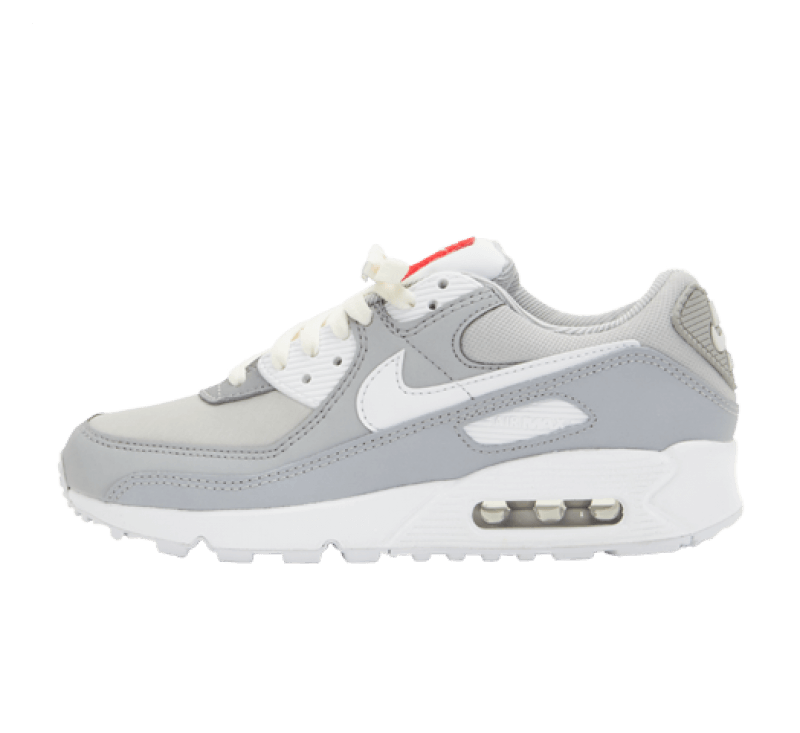 Nike Women's Air Max 90 Light Smoke Grey/White-Summit White