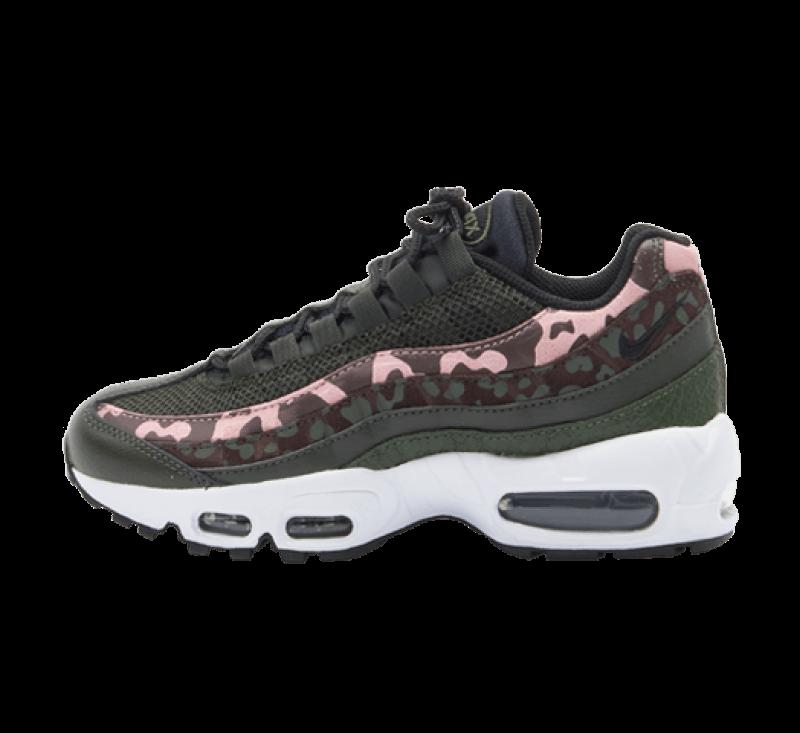 Nike Women's Air Max 95 Brown Basalt/Black-Sequoia-Pink Glaze