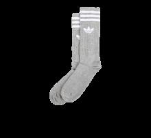Adidas Solid Crew Socks Medium Grey/White