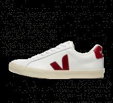 Veja Women's Esplar Logo Leather Extra White/Marsala