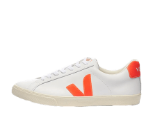 Veja Women's Esplar Logo Leather Extra White/Orange Fluo