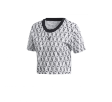Adidas Women's Cropped T-Shirt Black/White