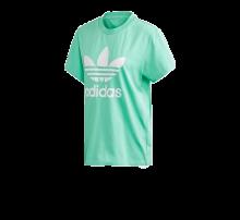 Adidas Women's Boyfriend Trefoil Tee Prism Mint/White