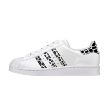 Adidas Women's Superstar Cloud White/Gold Metallic-Core Black
