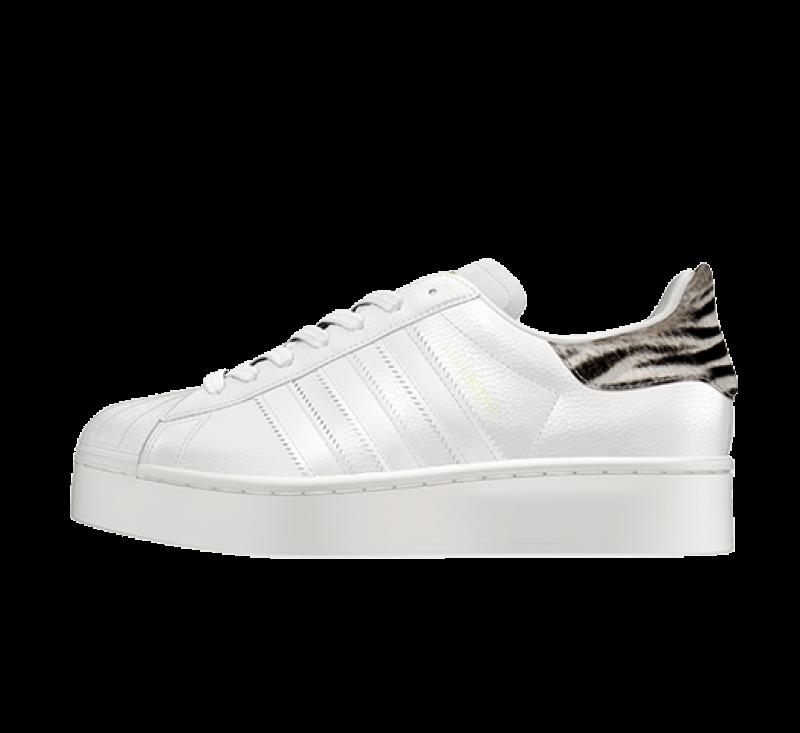 Adidas Women's Superstar Bold Animal White Tint/Off White-Core Black