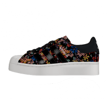 Adidas Women's Superstar Bold Floral Core Black/Off White-Red