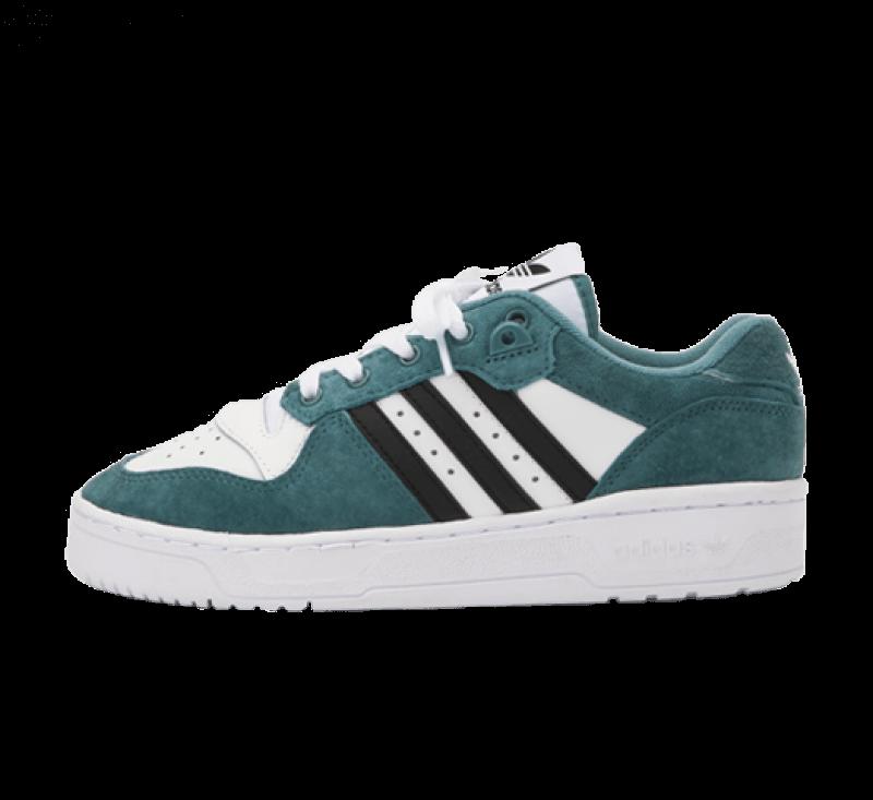 Adidas Rivalry Low Footwear White/Hazy Emerald-Core Black