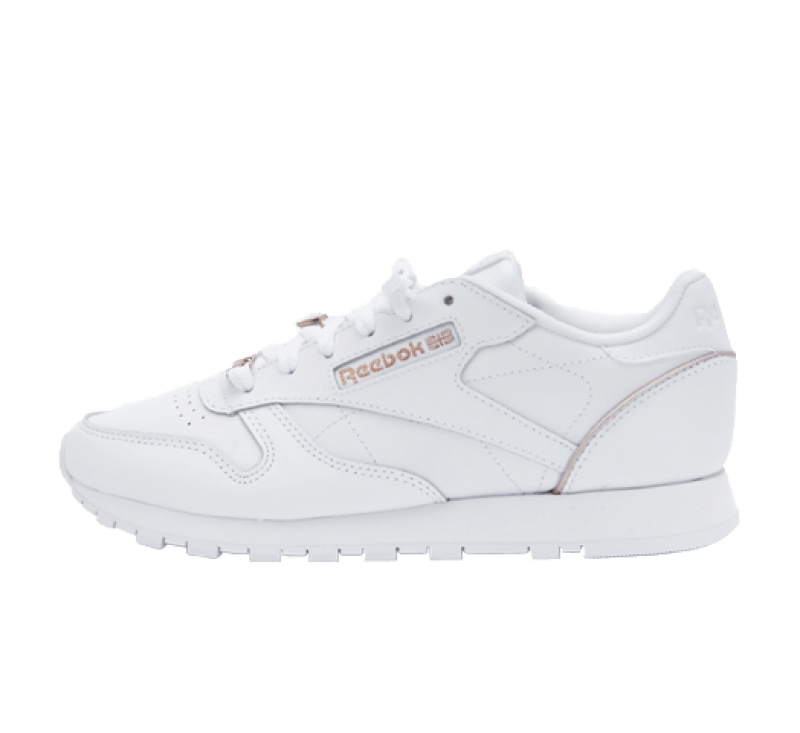 Reebok Women's CL Leather Cloud White/Rose Gold