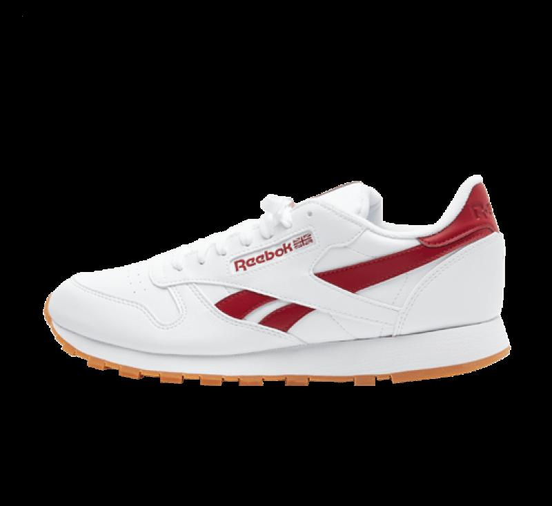 Reebok CL Leather Vegan Cloud White / Red Ember / Gum