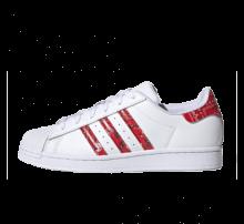 Adidas Women's Superstar Footwear White/Cream White-Red