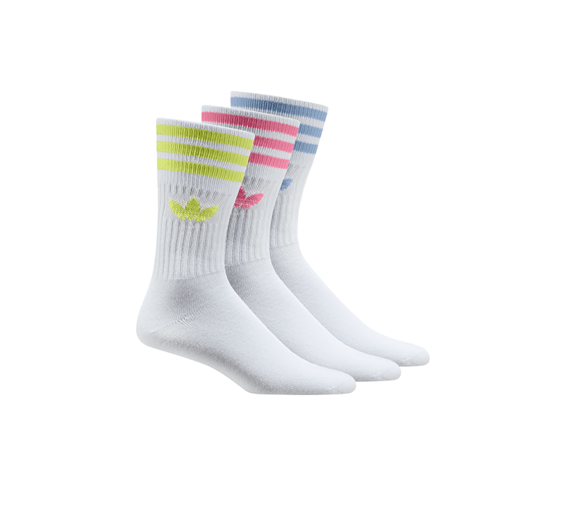 Adidas 3-Pack Solid Socks White/Pulse Yellow/Rose Tone/Ambient Sky