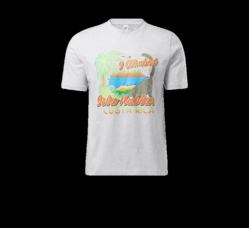Reebok x Jurassic Park Isla Nublar T-Shirt Light Greay Heather