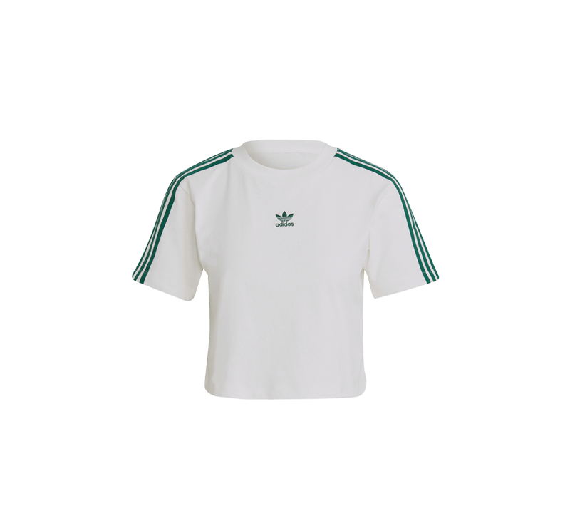 Adidas Women's Tennis Luxe Cropped T-Shirt Off White