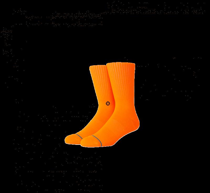 Stance Iconic Socks Neon Orange