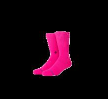 Stance Iconic Socks Neon Pink