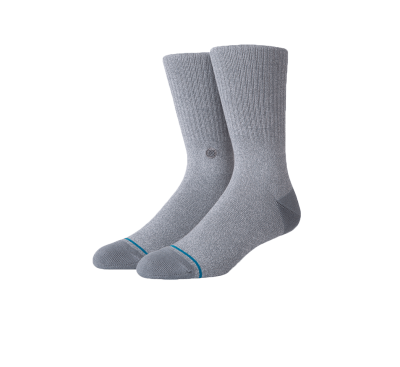 Stance Icon Socks Grey Heather