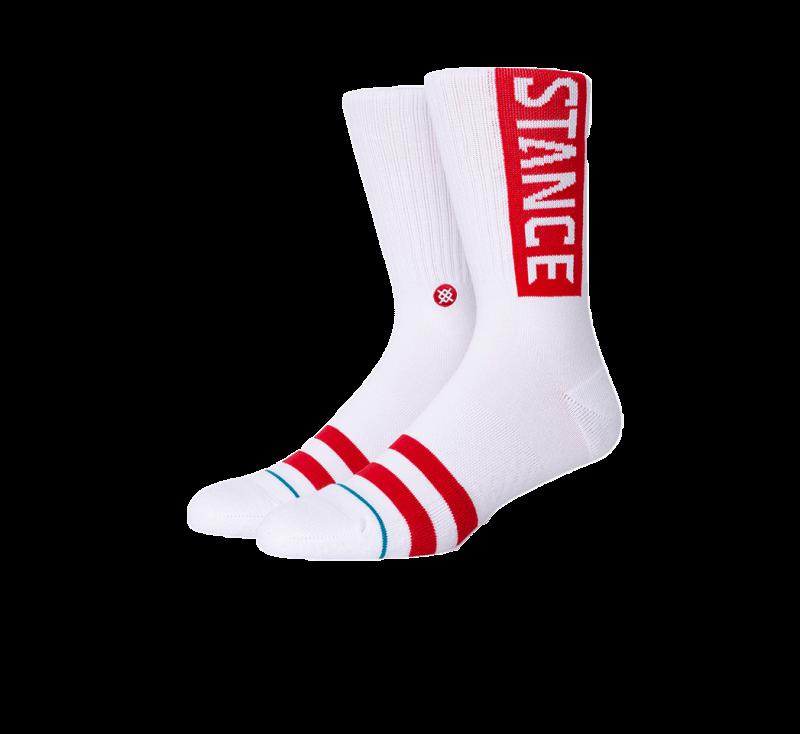 Stance OG Socks White/Red
